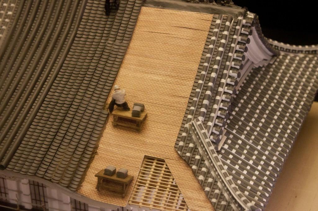 13_姫路城屋根工事模型