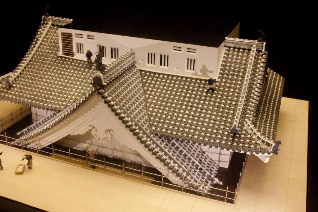 14_姫路城屋根工事模型
