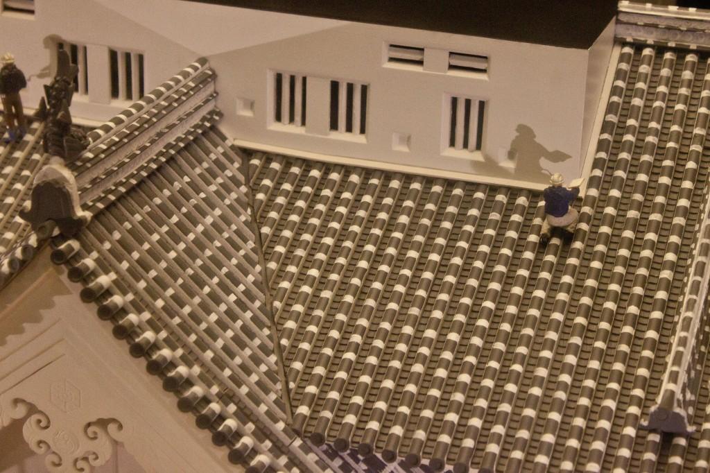 15_姫路城屋根工事模型