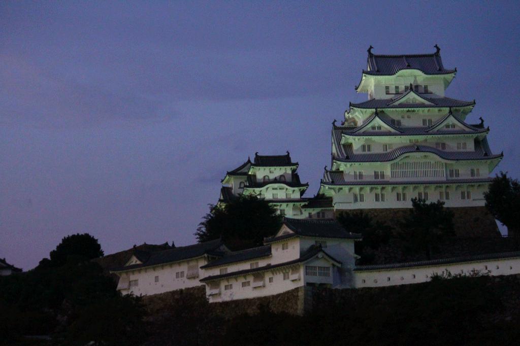 20_20.姫路城正面・夕闇1