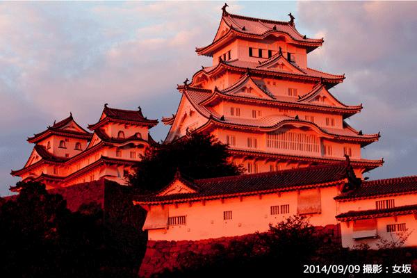 01_夕焼けに染まる姫路城