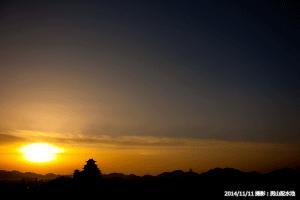 08_朝日と快晴の空と姫路城