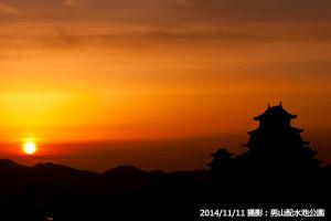 08_姫路城朝焼け