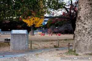 三の丸広場世界遺産碑後ろ・十景碑