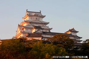 04_姫路城朝日