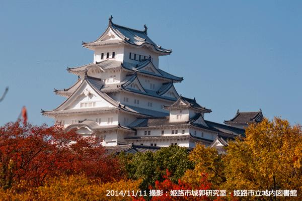 03_城内図書館からの姫路城(寄り)